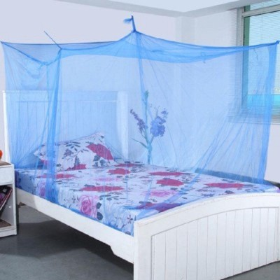 sunflower Blue pack of 2 Mosquito Net(Blue, Pink)