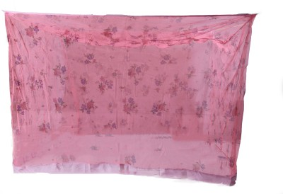 Riddhi Sqaure Printed Pink With Border Mosquito Net