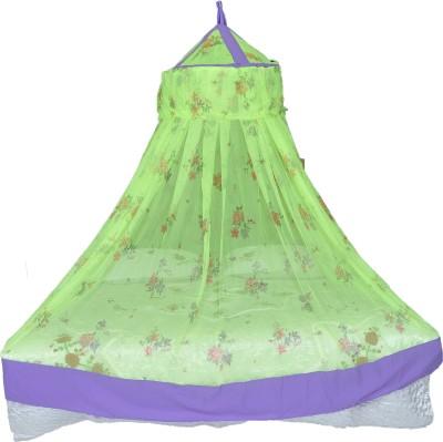 Riddhi light green printed soft mosquito net Mosquito Net