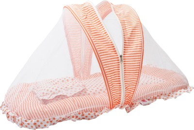 Orange and Orchid Bedding Set for Just Born Mosquito Net