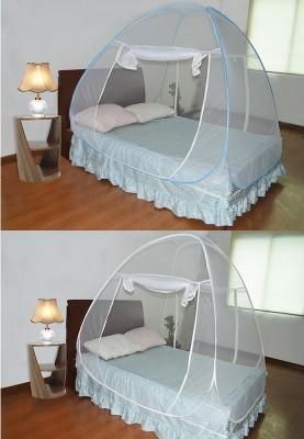 Asp Healthcare Combo Blue White Mosquito Net