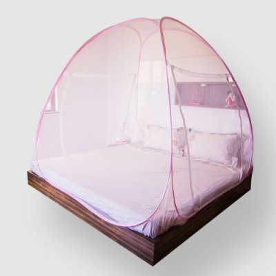 Prc Net Pink Border Mosquito Net(Pink)