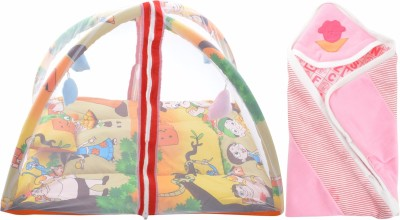 ROYAL SHRI OM BABY SLEEPING BED WITH MOSQUITO NET(PLAYGYM) AND BABY WRAPPER Mosquito Net