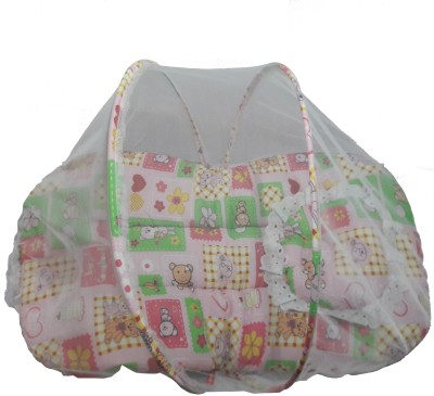 VEENA Bed with mosquito net Mosquito Net(pink)
