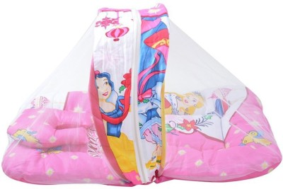 Chinmay Kids Barbie Girl Mosquito Net Bed Mosquito Net(Multicolours, Pink)