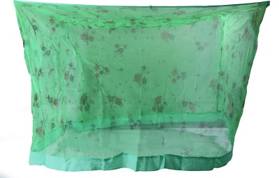 Riddhi Sqaure Green Printed With Border Mosquito Net