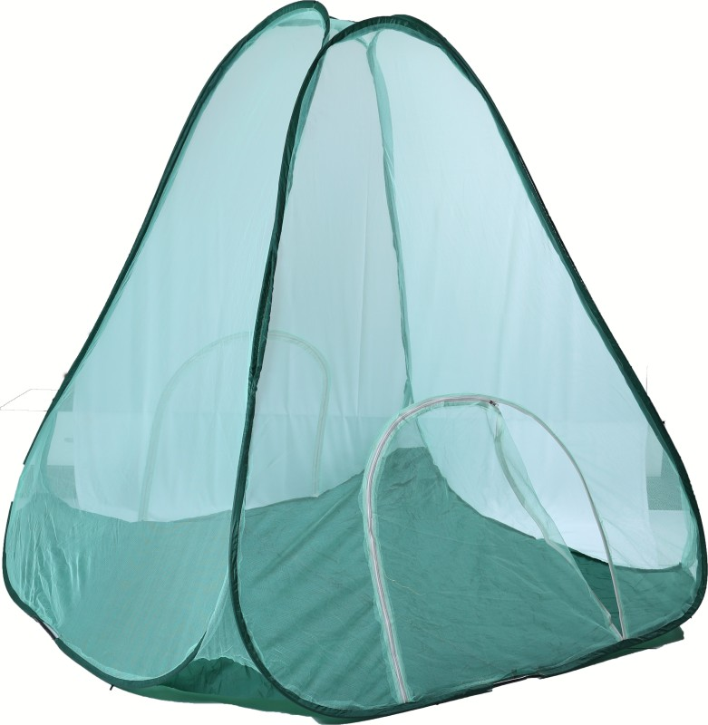 Riddhi Polyster Adults Green 14 Miter Tent Mosquito Net(Green)