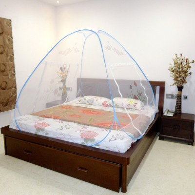 A-ONE Double Bed Fish Printed and Blue Mosquito Net(Blue)