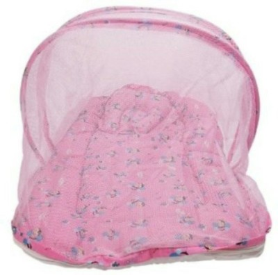 Chinmay Kids Pink Colored Butterfly Printed Cotton Padded Bed Net Mosquito Net