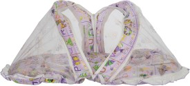 Aarushi Cotton Infants Baby Bedding Set Sleeping Bed with Foldable Mosquito Net(Multicolor)