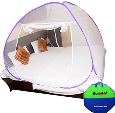 BonZeal Foldable Mosquito Net Tent Violet Double Bed Mosquito Net(Violet)