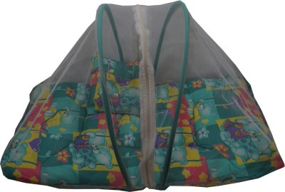 Muren Baby Bedding Set with Mosquito Net - Bear Couple Green Mosquito Net