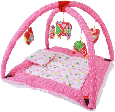 CHHOTE JANAB BABY PLAY GYM WITH MOSQUITO NET(Pink)