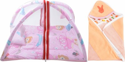 ROYAL SHRI OM BABY SLEEPING BED WITH MOSQUITO NET (PLAYGYM) AND BABY WRAPPER Mosquito Net