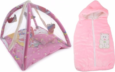 Royal Shri Om BABY BEDDING WITH MOSQUITO NET(PLAYGYM) AND BABY WRAPPER Mosquito Net