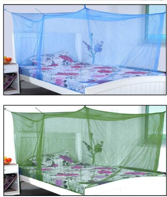 BLUE EYE simple border Mosquito Net(Blue, Green)