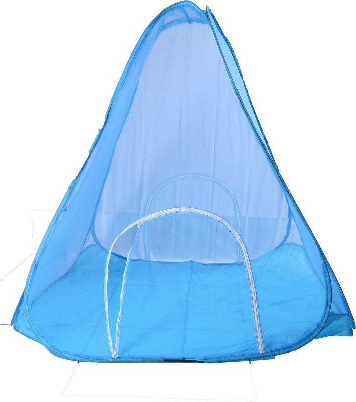 Riddhi Polyster Adults Blue 14 Miter Tent Mosquito Net(Blue)
