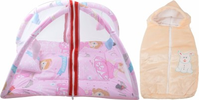Royal Shri Om BABY BEDDING WITH MOSQUITO NET AND BABY WRAPPER Mosquito Net