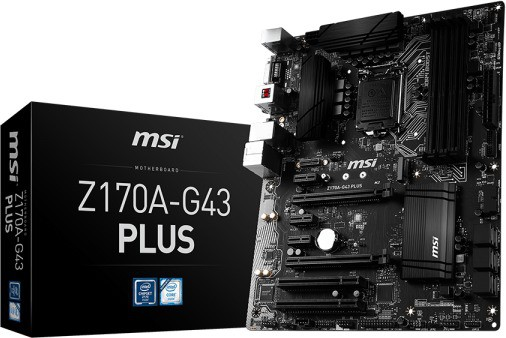 MSI Z170A-G43 PLUS Motherboard(Black)
