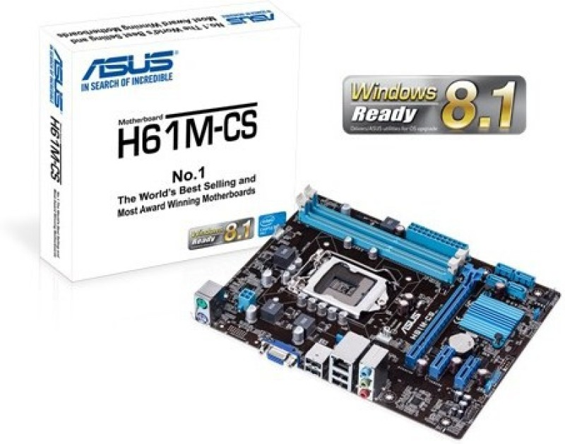 Asus H61M-CS Motherboard(White)