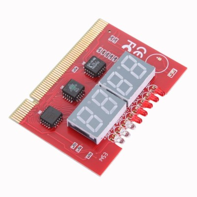 Tech Gear PC 4-digit Code Diagnostic Analyzer Card Motherboard(Red)