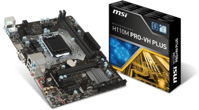 MSI H110M Pro VH plus Motherboard(Black)