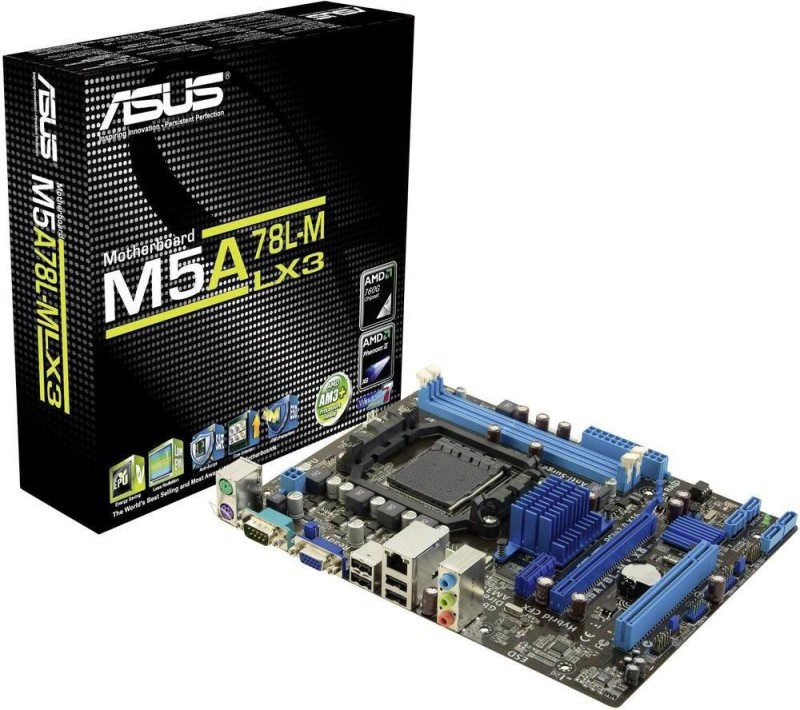 Asus M5A78L-M-LX3 for AMD processor Motherboard(Black)