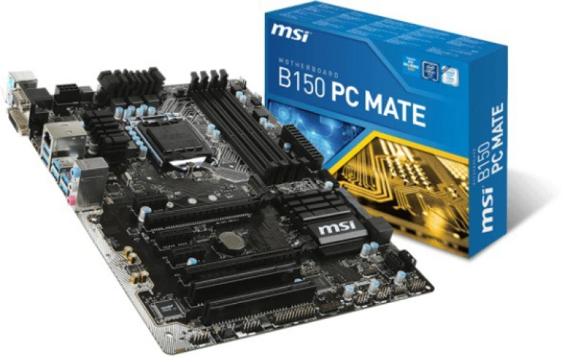 MSI B150 PC MATE Motherboard(Black)