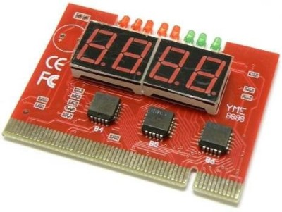 Tech Gear 4 Digit Debug Card Testing With Manual Motherboard(Red)
