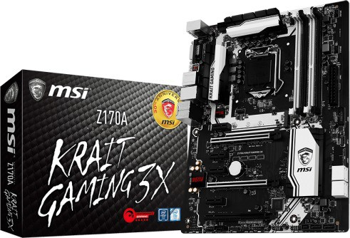 MSI Z170A KRAIT GAMING 3X Motherboard(Black)