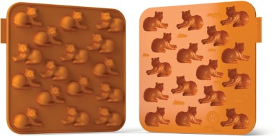 Silicone zone Silicone Zone - Tiger Silicone Baking Chocolates Mould - Orange 16 - Cup Mould Tray