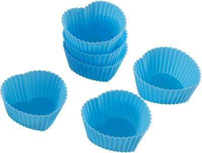 Silico Heart Shape Silicone Bakeware Cupcakes Muffin Mold 6 - Cup Mould