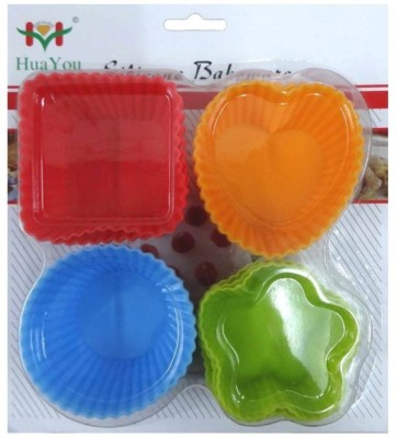 Hua You 12 - Cup Cupcake/Muffin Mould(Pack of 12)