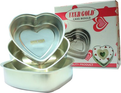 Evergold Heart Shape Cake Mould 3 - Cup Mould