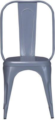 Shri Maharaj Wrought Iron Moulded Chair(Finish Color - Peppy Grey Set of - 1)