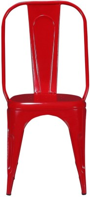 Shri Maharaj Wrought Iron Moulded Chair(Finish Color - Peppy Red Set of - 1)