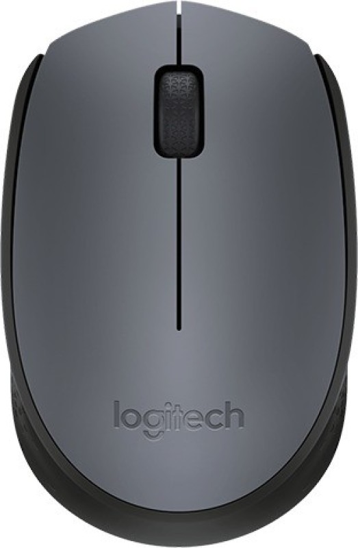 Logitech M-171-GREY/BLACK Wireless Optical Mouse(USB, Grey, Black)
