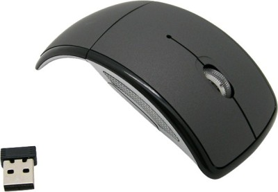 Speed Foldable Black Wireless Optical Mouse