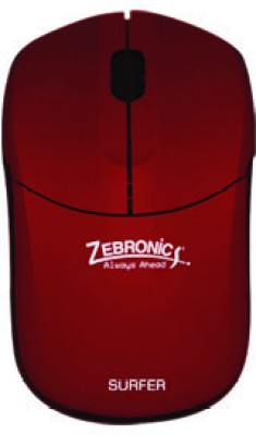 Zebronics Surfer 2.4ghz Wireless Optical Wired Optical Mouse(Red) at flipkart