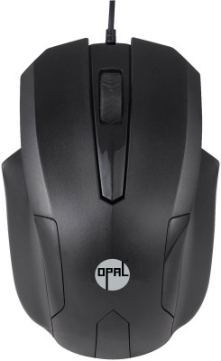 Opal Optical Black Wired Optical Mouse
