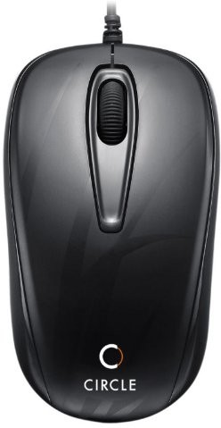 Circle CM318 Wired Optical Mouse(USB, Black) image