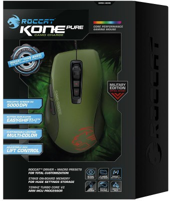 Roccat Kone Pure Camo Charge Military Edition Wired Optical Mouse Gaming Mouse (USB 2.0)