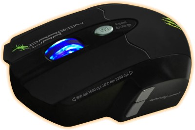 Dragon War Leviathan Blue Sensor with Free Mouse Mat Wired Laser Mouse Gaming Mouse(USB, Black)