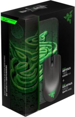 Razer Abyssus and Goliathus (Speed) Mouse and Mat Bundle Optical Mouse Gaming Mouse