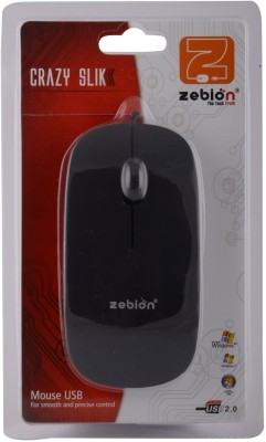 Zebion CRAZY SLIK Wired Optical Mouse Gaming Mouse