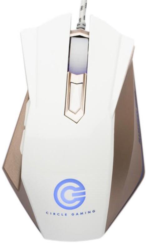 Circle CG Marksman 4 Wired Optical  Gaming Mouse(USB, White) image