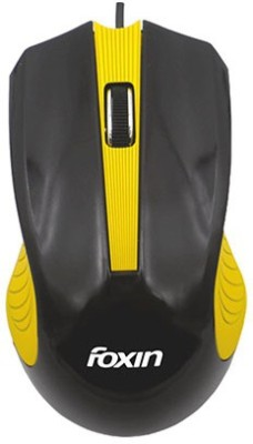 Foxin FOM4013 ( Yellow ) Wired Optical Mouse Gaming Mouse