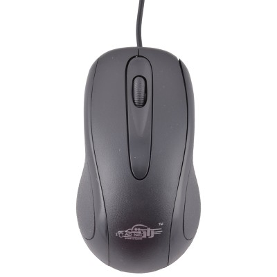 Ad Net AD-202 3D Wired Optical Mouse(USB, Black)
