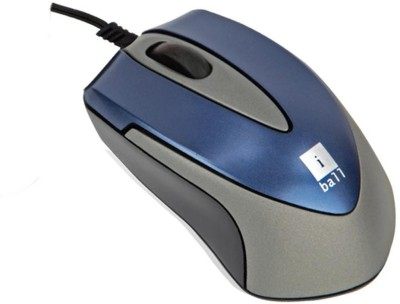 Iball Mini-mice x9 - Double Retractable Blue Eye Wired Optical Mouse