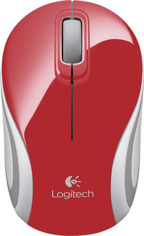 Logitech M187 Optical Mouse(USB, Red)